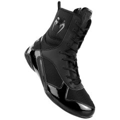 Venum Elite Boxing Shoes - Black-Black