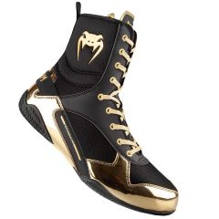 Venum Elite Boxing Shoes - Black-Gold