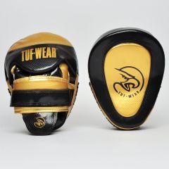 Tuf Wear Gel Curved Hook & Jab Pads Black Gold