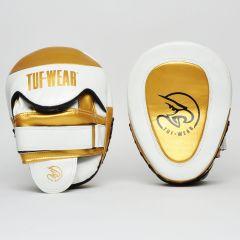 Tuf Wear Victor Gel Curved Hook & Jab Pads White Gold