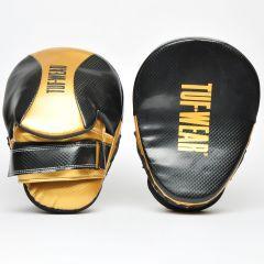 Tuf Wear Victor Curved Hook & Jab Pads Black Gold