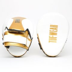 Tuf Wear Victor Curved Hook & Jab White Gold