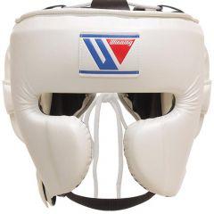 Winning Japan Boxing FG-2900 Headguard with Cheek - White