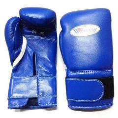 Winning Japan Boxing MS Training Gloves - Blue Velcro